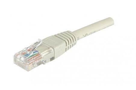 CORDON PATCH RJ45 U/UTP CAT6 Gris - 0,30 M