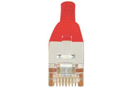 Cordon RJ45 croisé catégorie 6 S/FTP rouge - 0,5 m