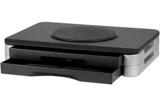 Support pour ecran rotatif a tiroirs