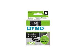 RUBAN DYMO D1 STANDARD 12mm NOIR & BLANC