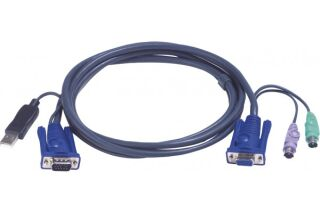 Cable kvm ATEN 2L-5506UP VGA-USB-PS2 - 6,00M