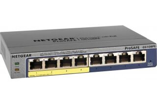 NETGEAR GS108PE Switch Prosafe+  8 Gigabit /4 PoE manageable