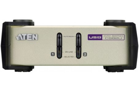 ATEN CS82U Switch KVM 2 ports combo VGA/USB+PS2 + Cables