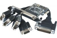 Carte PCI-Express 1X - 4 ports série RS232 Std & Low Profile