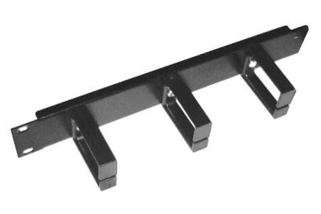 Panneau guide cable 1U 10'' noir