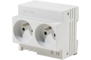 Double prise modulaire 2P+T 16 amp