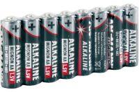 Piles Alcalines LR06 AA 1,5V - Gaine de 8 Ansmann