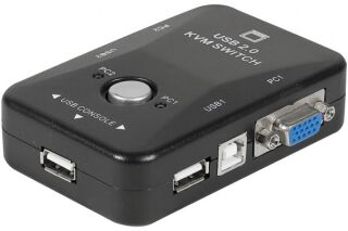 Mini kvm switch vga/usb 2 ports