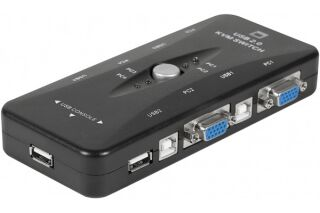 Mini kvm switch vga/usb 4 ports