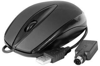 DACOMEX Souris noire USB et PS/2