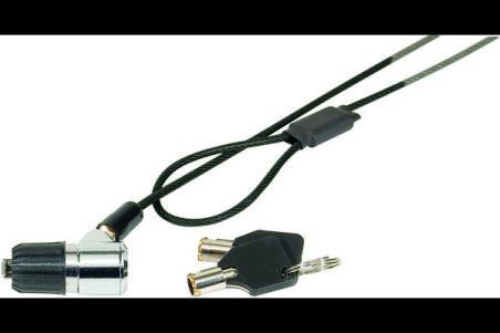 Antivol à clé Eco pour sécuriser1 appareil à encoche K-Lock - 1,80m