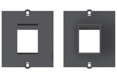 BACHMANN Plastron vide 1 embase keystone (RJ45, USB, HDMI)