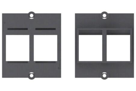 BACHMANN Plastron vide 2 embases keystone (RJ45, USB, HDMI)