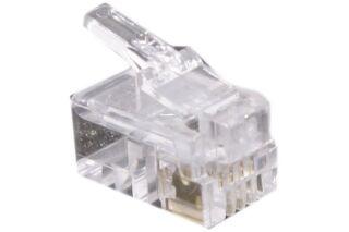 Connecteur à sertir 4P4C RJ9 UTP Téléphonie - lot de 10
