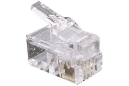 CONNECTEUR 4P4C RJ9 UTP TELEPHONIE LOT DE 10
