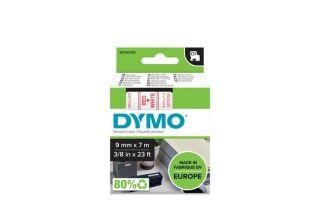 Ruban 9MM rouge sur blanc pour LP150/250-LM350/450/210D/220P