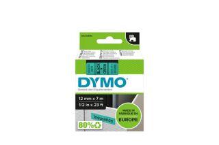 Ruban 12MM noir sur vert pour LP150/250-LM350/450/210D/220P