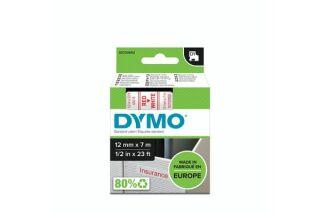 Ruban 12MM rouge sur blanc pour LP150/250-LM350/450/200/250