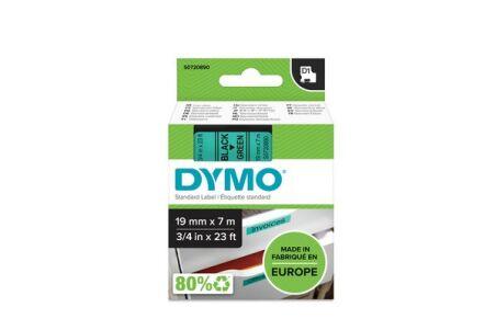 Ruban 19MM noir sur vert pour labelmanager 350/450/300/400