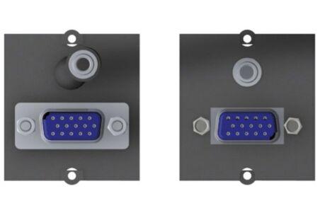 BACHMANN Plastron VGA + jack audio 3,5 mm