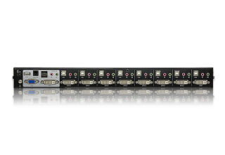 Aten CS1768 - Switch KVM DVI/USB + Audio 8 ports Single Link