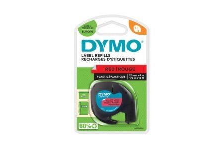 Ruban plastique dymo noir/rouge 12MM pour letratag