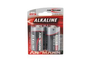 ANSMANN Piles alcalines 1514-0000 LR20 / D blister de 2