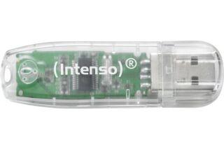 INTENSO Clé USB 2.0 Rainbow Line - 32Go Transparent