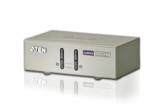 Aten CS72U kvm 2 ports VGA/USB/Audio + cables