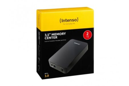 INTENSO Disque Dur Externe 3.5'' Memory Center USB 3.0 - 2To Noir