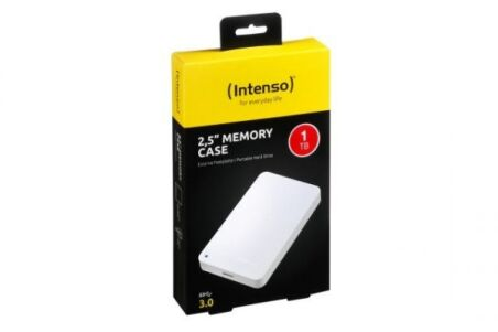 INTENSO Disque Dur Externe 2.5'' Memory Case USB 3.0 - 1 To Blanc