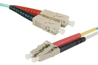 Jarretière optique duplex multimode OM4 50/125 SC-UPC/LC-UPC
