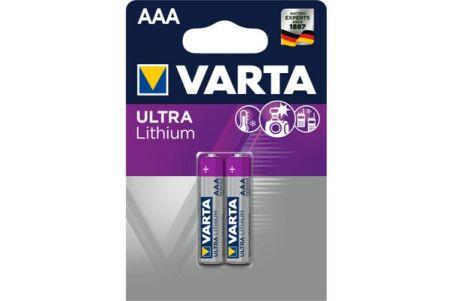 VARTA Piles lithium 6103301402 FR03 / AAA blister de 2