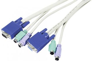 Cordon combiné KVM PS2/VGA type C2 - 5m