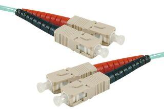 Jarretière optique duplex multimode OM4 50/125 SC-UPC/SC-UPC