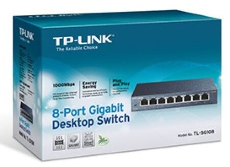 Tp-link TL-SG108 switch metal 8 ports gigabit
