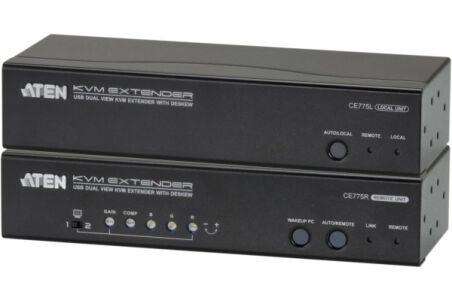Aten CE775 prolongateur KVM Double Écran VGA/USB/Audio 300M