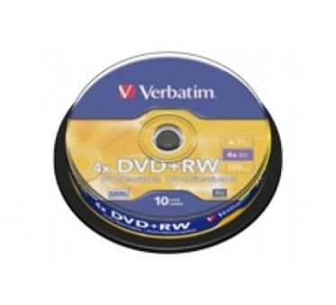 Spindle 10 dvd+rw reinscriptible 4.7Go,4x verbatim