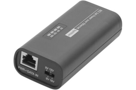 client splitter Gigabit PoE+ 802.3at 5-9-12-18V