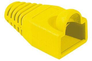 Manchon RJ45 jaune snagless diamètre 6,5 mm (sachet de 10 pcs)