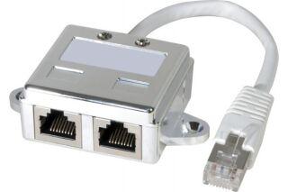 Eclateur de port RJ45 blindé LAN+TEL