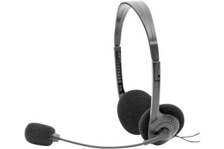 DACOMEX Casque-Micro AH710-U Stéréo Ajustable USB noir