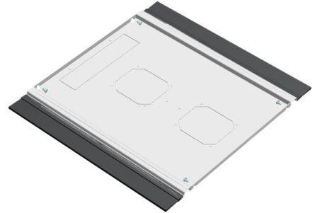 EFIRACK Plaque de fond avec balai passe cables 800X800