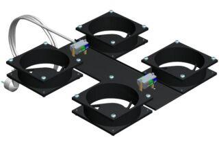 EFIRACK Kit 4 ventilateurs pour baie
