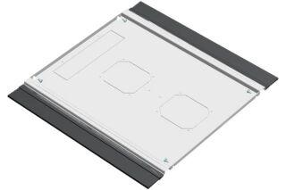 EFIRACK Plaque de fond avec balai passe cables 600X1000