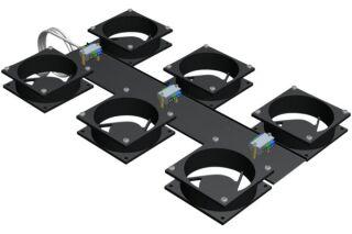 EFIRACK Kit 6 ventilateurs pour baie
