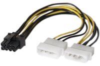 Adaptateur d'alimentation Molex vers PCI-E 8 pins - 15 cm