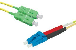 Jarretière optique duplex monomode OS2 9/125 SC-APC/LC-UPC j