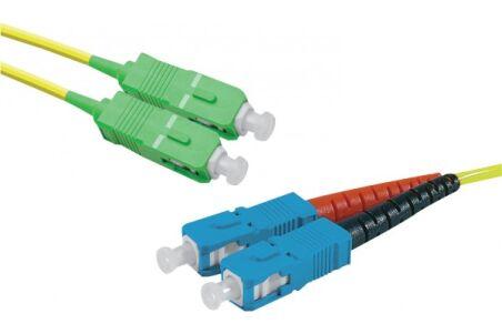 Jarretière optique duplex monomode OS2 9/125 SC-APC/SC-UPC j