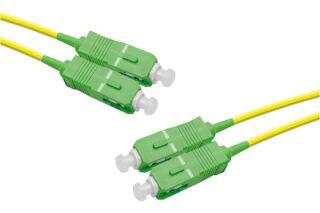Jarretière optique duplex monomode OS2 9/125 SC-APC/SC-APC j